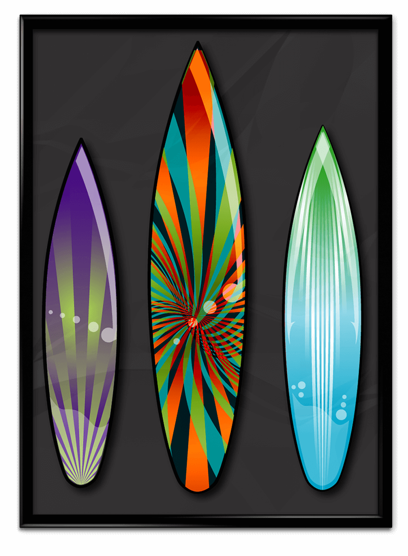 Surfboard designs