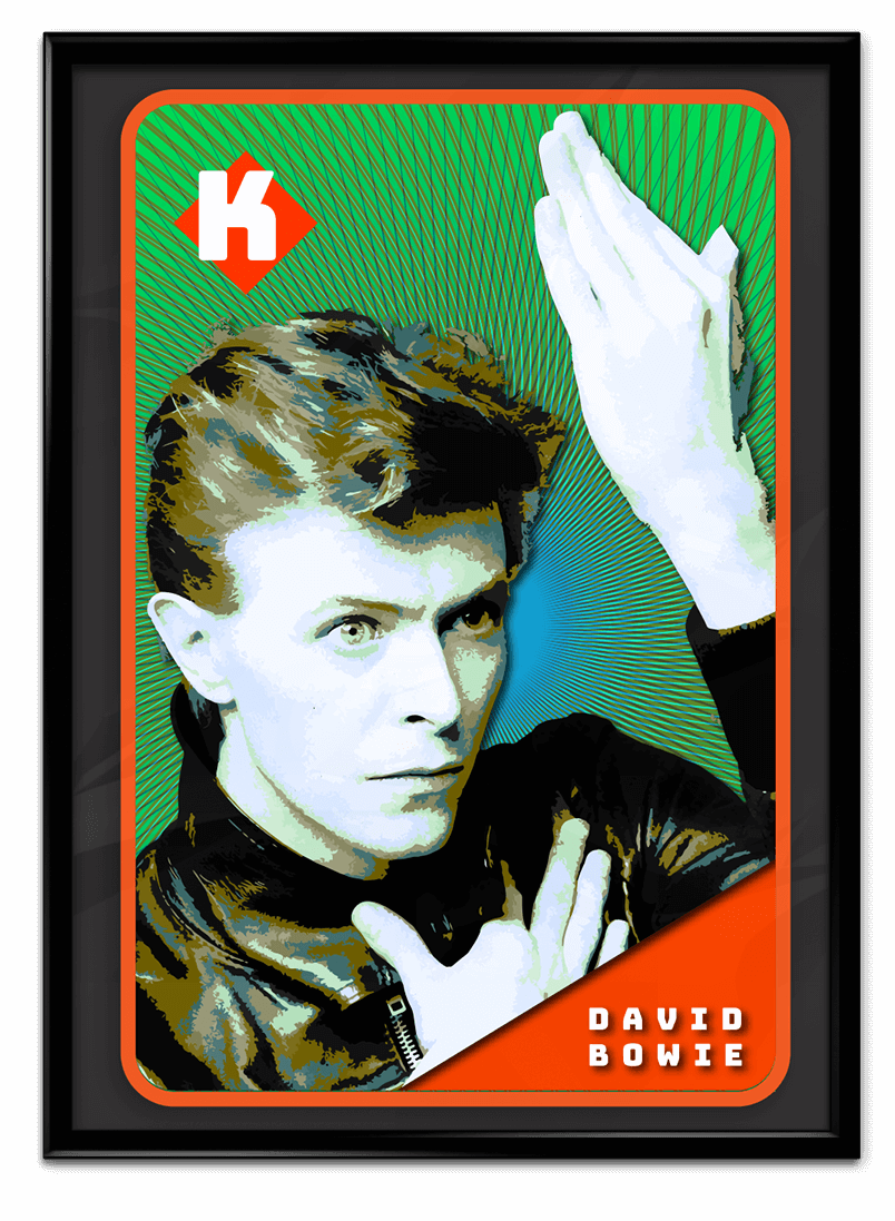 David Bowie playing card